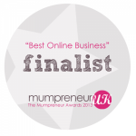 Finalist for the Mumpreneur Awards 2013