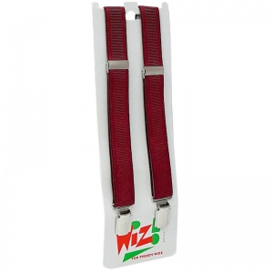 Boys Plain Burgundy Adjustable Formal Braces