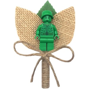 Boys Toy Story Soldier Hessian & Twine Rustic Buttonhole