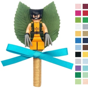 Boys Wolverine Buttonhole with Satin Bow & Stem