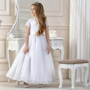 Girls Lace & Sequin Dress by Lacey Bell Style CD14