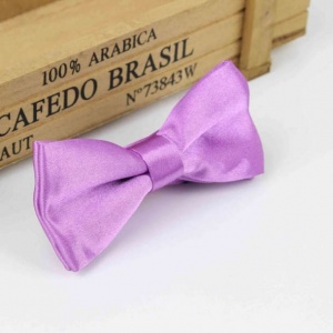 Boys Light Purple Satin Bow Tie with Adjustable Strap