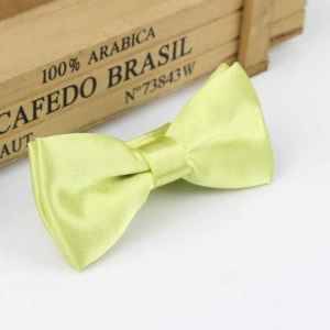 Boys Lime Green Satin Bow Tie with Adjustable Strap