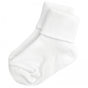 Boys White Plain Soft Ankle Socks