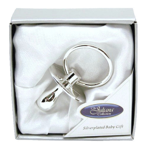 Baby Silver Plated Data Dummy Christening Baptism Gift