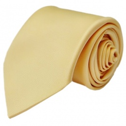 Boys Gold Plain Satin Tie (45'')