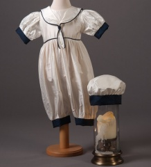 Baby Boys Millie Grace Austin Silk Christening Romper & Hat