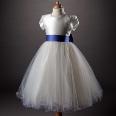 Busy B's Bridals 'Betty' Sash & Bow Tulle Dress