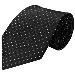 Boys Black Dot Satin Tie (45'')