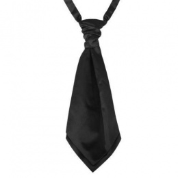 Boys Black Adjustable Scrunchie Wedding Cravat