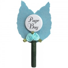 Boys Blue Page Boy Rosebud Buttonhole