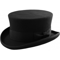 Boys Black Premium Wool Junior Top Hat
