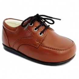 Boys Brown Tan Matt Formal Lace Up Shoes
