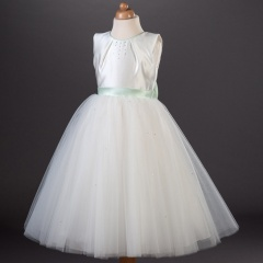 Busy B's Bridals Emily Crystal Large Bow Organza Dress