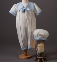 Baby Boys Millie Grace Butler Cotton Christening Romper & Hat