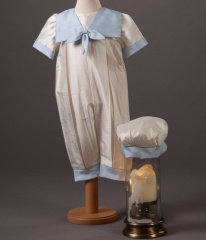 Baby Boys Millie Grace Butler Silk Christening Romper & Hat