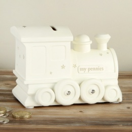 Baby Boys My Pennies Train Money Box Gift