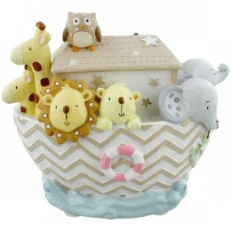 Noah's Ark Resin Money Box