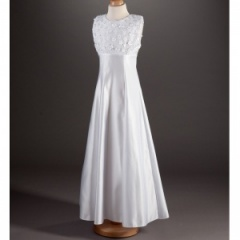 Millie Grace 'Charley' White Satin Communion Dress