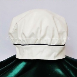 Baby Boys Millie Grace Ivory or White & Navy Linen Look Cotton Hat