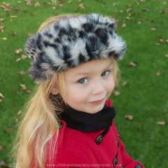 Girls Dark Brown Faux Fur Head Band