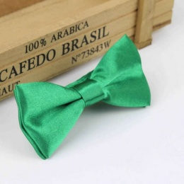 Boys Emerald Green Satin Bow Tie with Adjustable Strap