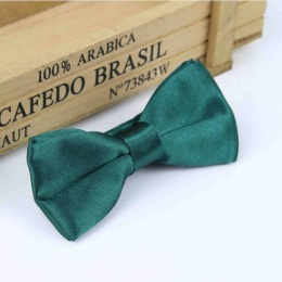 Boys Forest Green Satin Bow Tie with Adjustable Strap