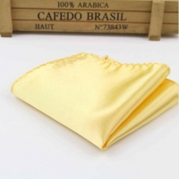 Boys Gold Satin Pocket Square Handkerchief