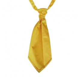 Boys Old Gold Adjustable Scrunchie Wedding Cravat
