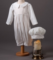 Baby Boys Millie Grace Jack Cotton Christening Romper & Hat