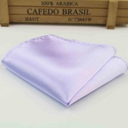 Boys Lilac Satin Pocket Square Handkerchief