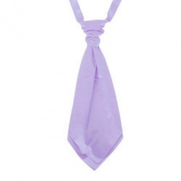 Boys Lilac Adjustable Scrunchie Wedding Cravat
