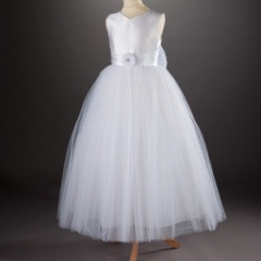 Millie Grace 'Coretta' White Diamante Communion Dress