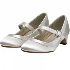 Maisie by Rainbow Club Ivory Satin Shoes