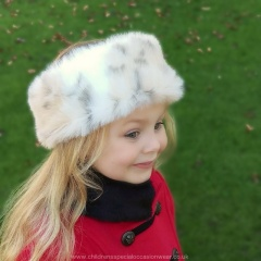 Girls Mink Faux Fur Head Band