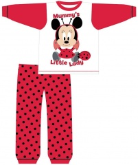Baby Girls Minnie Mouse Mummy's Little Lady Pyjamas