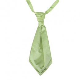 Boys Mustard Green Adjustable Scrunchie Wedding Cravat