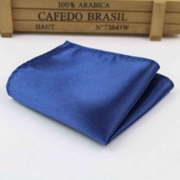Boys Navy Satin Pocket Square Handkerchief