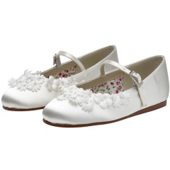 Summer by Rainbow Club Ivory Blossom Satin Shoes