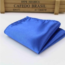 Boys Royal Blue Satin Pocket Square Handkerchief