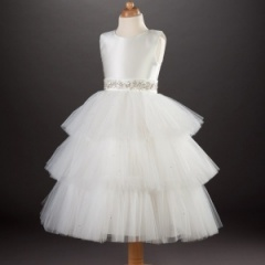 Busy B's Bridals 'Sheridan' Diamante Tulle Dress