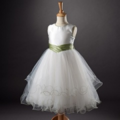 Busy B's Bridals 'Taylor' Satin Tulle Dress