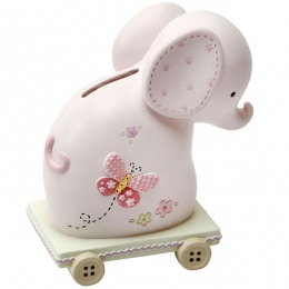 Baby Girls Elephant Money Box Gift Set