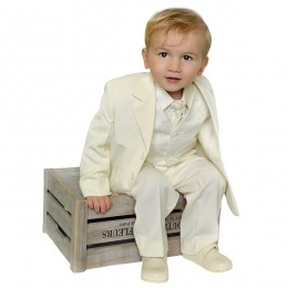 Boys Ivory 5 Piece Jacket Suit