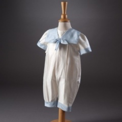 Baby Boys Millie Grace 'Butler' Sailor Christening Romper