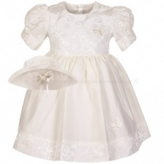 Baby Girls Ivory Butterfly Special Occasion Dress & Hat