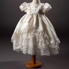 Baby Girls Ivory Millie Grace 'Paige' Traditional Lace Christening Dress