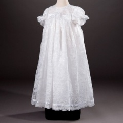 Baby Girls Millie Grace 'Arabella' Flower & Lace Christening Gown & Bonnet