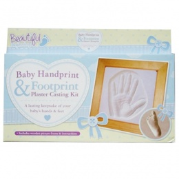 Baby Handprint & Footprint Mould Kit & Frame Keepsake Boxed