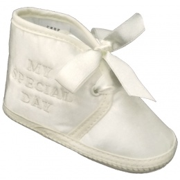 Baby Boys Ivory Satin My Special Day Pram Shoes
